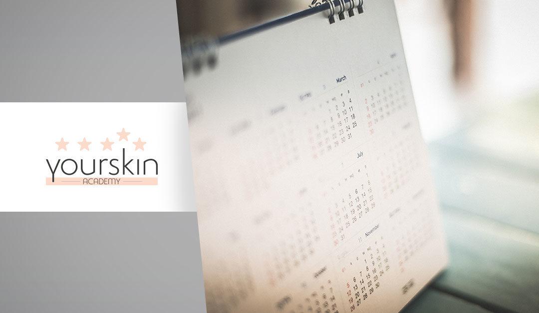 Scopri il nuovo calendario di Yourskin Academy