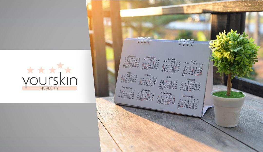 Calendario ricchissimo ad ottobre 2019 per Yourskin Academy